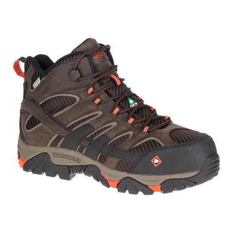 Merrell MOAB 2 Mid Men's Hiker Composite Toe Work Boot - Brown