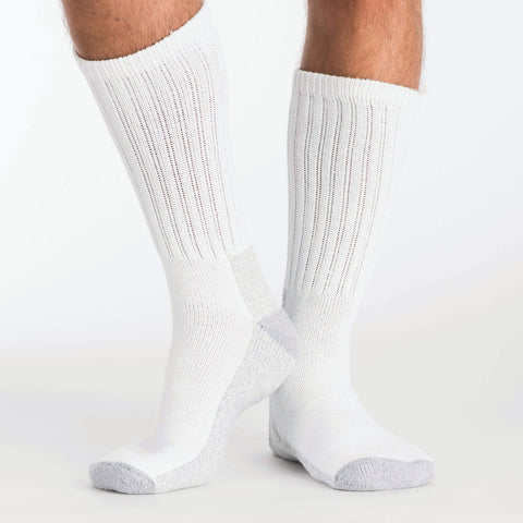 Kodiak Steel Toe Cotton Crew Sock - White