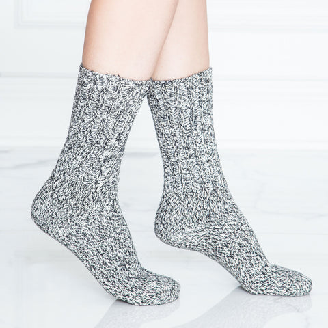 Marled Cotton Crew Sock