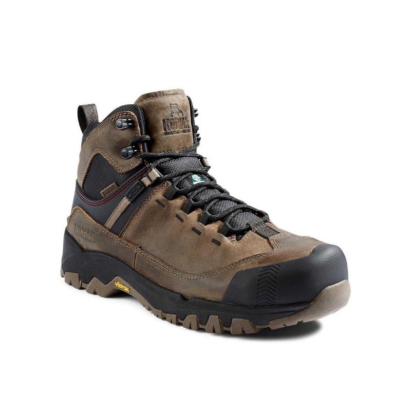 Kodiak Quest Bound Mid Men's 6 Inch Waterproof Composite Toe Work Boot KD0A4TELA62 - Brown