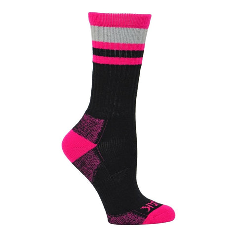 Kodiak Women's 2 PK Work Sock Tall Length - Black/Grey/Pink