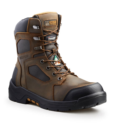 "Kodiak AXTON Men's 8"" Waterproof Composite Toe Work Boot - Brown"