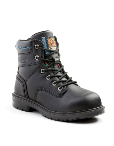 "Kodiak Blue Women's 6"" Aluminum Toe Work Boot - black"