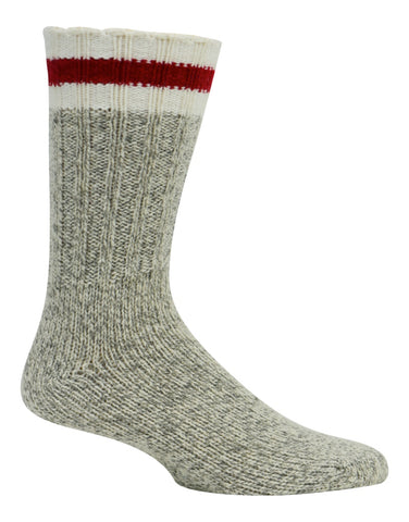 Kodiak Men's Merino Wool Blend Work Socks - Grey/Red