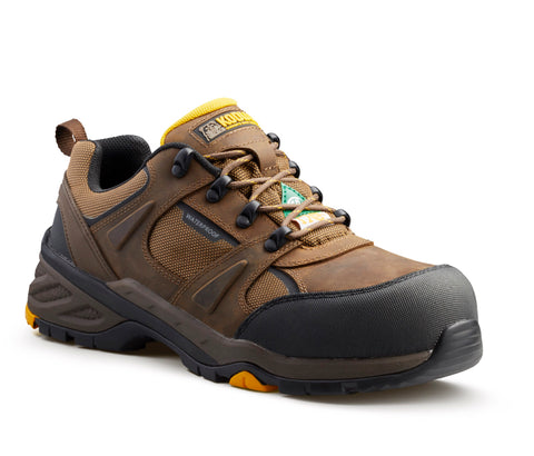 Kodiak Rapid Men's Composite Toe Hiker Work Shoe - BROWN