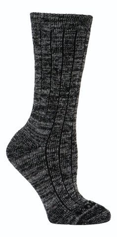 Kodiak Women's Merino Wool Blend Silk Work Socks - Charcoal