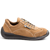 Lemaitre Viper Lightweight Leather Steel Toe Athletic Shoe - Beige