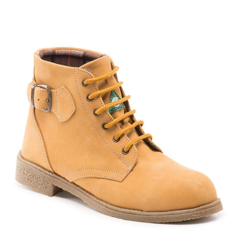 "Feather Adventura Tan Women's 6"" laced up Steel Toe Ankle Boots"