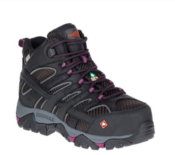 80ccc8e5 Merrell Moab 2 Mid Women's Waterproof Composite Toe CSA Work Boot ...