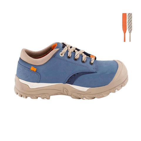 P&F PF628 Women's Steel Toe Work Shoe - Blue