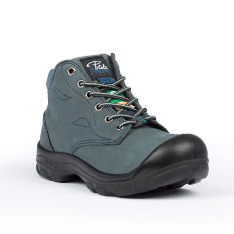 "P&F S556B Women's 6"" Steel Toe Work Boot With Side Zip - Marine"