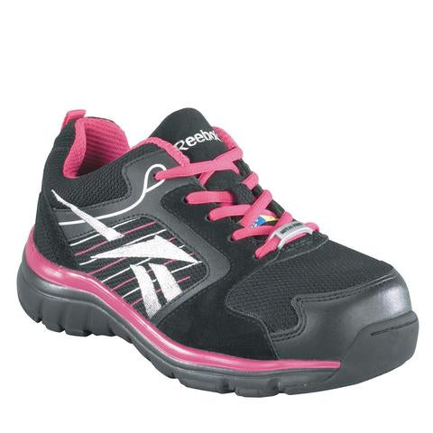 Reebok Anomar Women Non-Slip Athletic Work Shoes Composite Toe pink