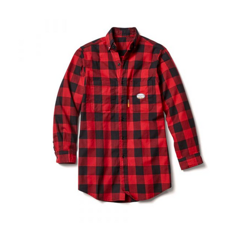 Rasco Men's Buffalo Plaid FR Work Shirt FR0824