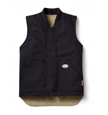 Rasco Men's FR Work Vest FR1707 - Black