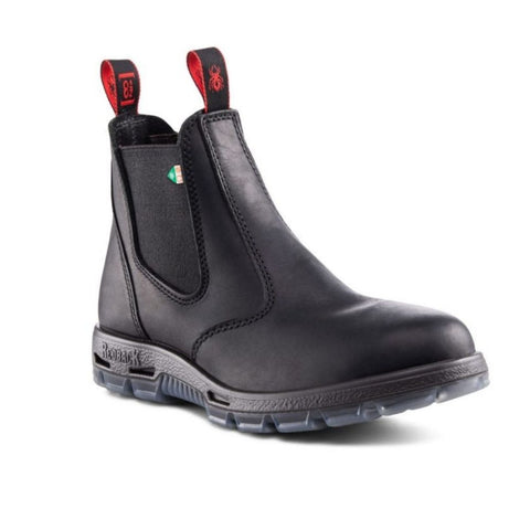 Redback Bobcat Unisex Slip On Steel Toe Work Boot - Black