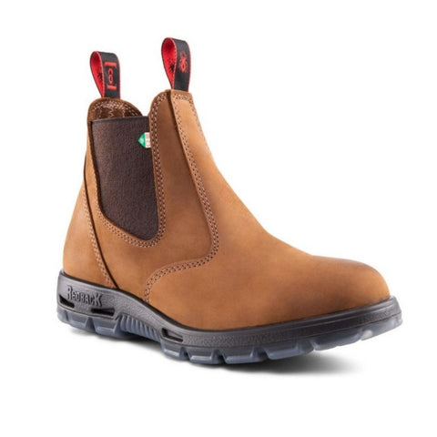 Redback Bobcat Unisex Slip On Steel Toe Work Boot - Tussock
