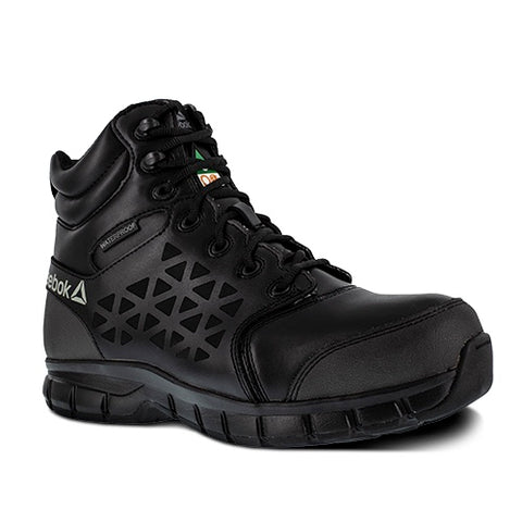 "Reebok Sublite 6"" Cushion Men's Waterproof Composite Toe Work Boots IB4607 - Black"