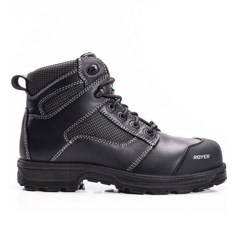 "Royer Agility Arctic Grip 5608AG Men's 6"" Composite Toe Work Boot - Black"