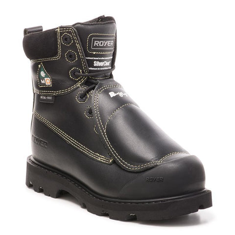 "Royer 10-8501 Men's 8"" Composite Toe Work Boot with External Met - Black"