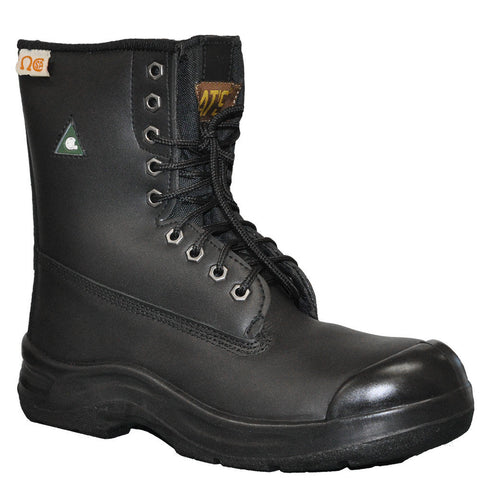 "Nats 8"" Men's Steel Toe Work Safety Boot - Black"