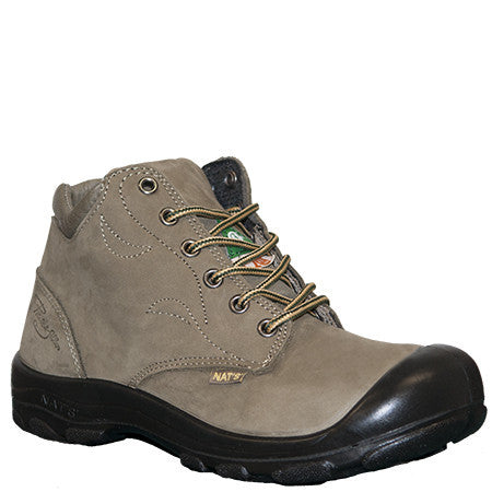 "NATS S556 Kaki 6"" Women's Steel Toe Side Zip Work Boot"