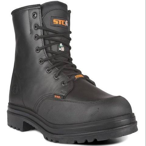 "STC Cylinder 8"" Safety Internal Met Work Boots - Noir"