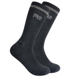Timberland Pro Men's Down Draft Crew Length Boot Socks 2 PK - Black