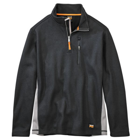 Timberland PRO Men's Studwall 1/4 Zip Textured Fleece Top - Black