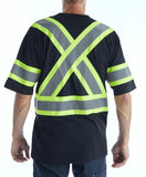 Terra Hi-Vis Short Sleeve Work T-Shirt - Black