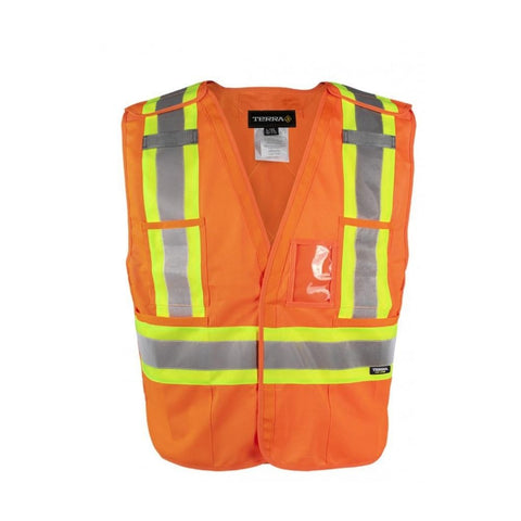 Terra Hi-Vis Tear Away Vest - Orange 116600OR