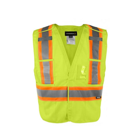 Terra Hi-Vis Tear Away Vest - Yellow 116600YL