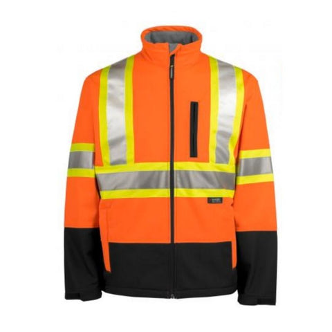 Terra Hi Vis Softshell Waterproof Jacket - Orange