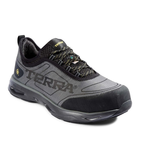 Terra Lites Unisex Composite Toe Athletic Safety Shoe TR0A4NRBBLG - Black/Grey