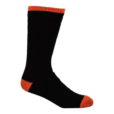 Terra Men's 2PK Wool Work Sock - Black/Orange