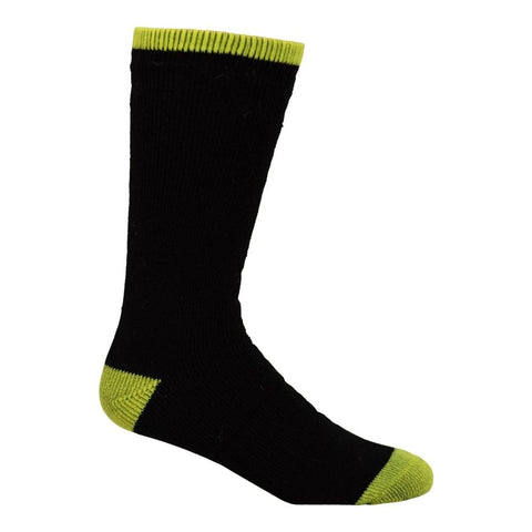 Terra Men's 2PK Wool Work Sock - Black/Yellow