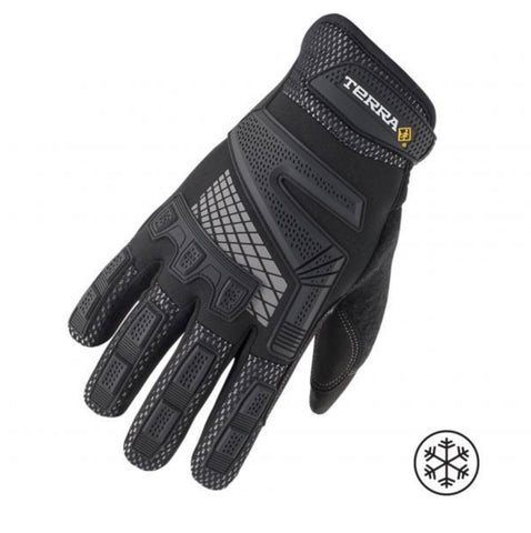 Terra Winter High Performance Work Gloves - Black