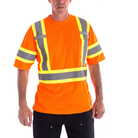 Terra Hi-Vis Short Sleeve T-Shirt in orange