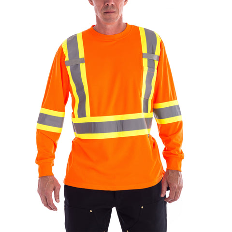 Terra Hi-Vis Long Sleeve T-Shirt in orange