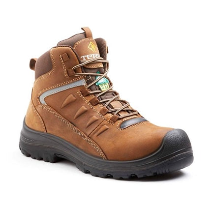 "Terra 6"" Findlay Waterproof Metal Free Hiker Safety Boot - Brown"