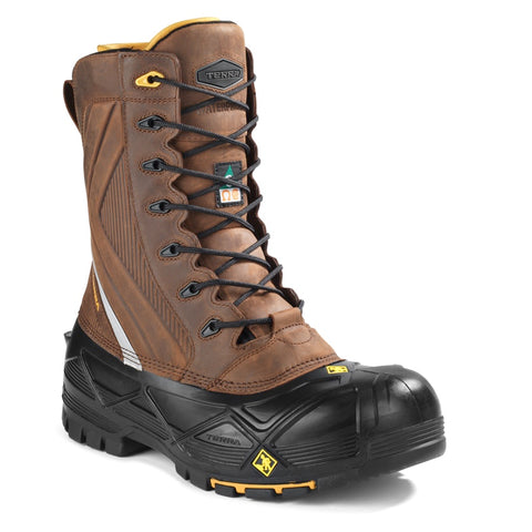Terra Crossbow Men's Waterproof Winter Safety Boot with Composite Toe - Brown