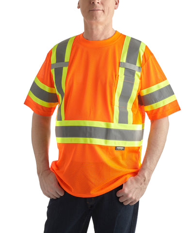 Terra High Vis Mesh Short Sleeved Shirt  - Orange