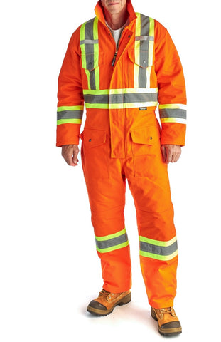 Terra Hi-Vis Winter Canvas Coveralls - Orange