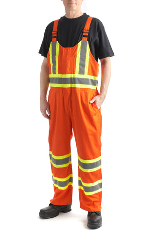 Terra High Visibility Unlined Overall Bibs