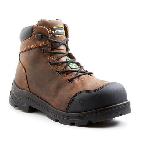 "Terra VRTX 6000 Men's 6"" Composite Toe Safety Boot - Brown"