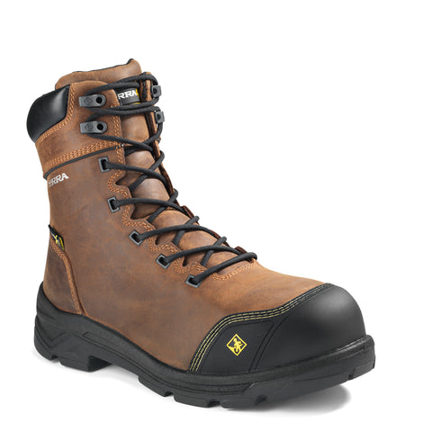 "Terra VRTX 8000 Internal MET Men's 8"" Composite Toe Work Boot - Brown"