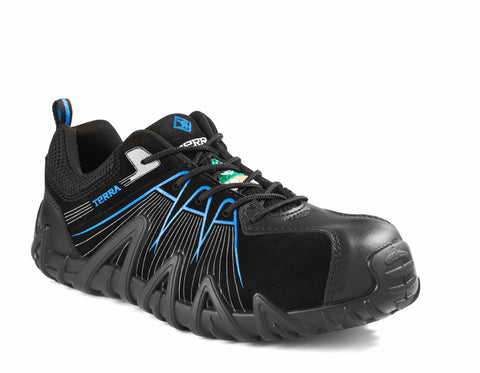 Terra Spider X Men's Lightweight Composite Toe Work Shoe - Blue