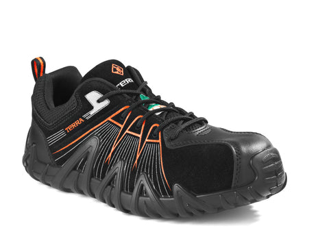 Terra Spider X Men's Lightweight Composite Toe Work Shoe - Orange
