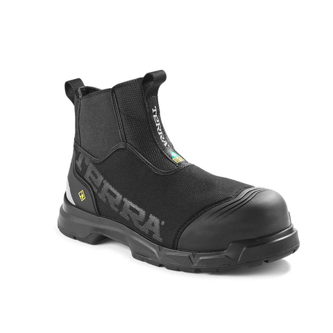 "Terra Technolite Men's 6"" Composite Toe Pull-On Work Safety Boot TR0A4NQ6BLK"