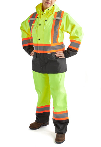 Terra Women's High Vis Rainsuit - Yellow