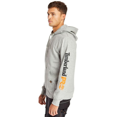 Timberland PRO Hood Honcho Full Zip Work Hoodie - Light Grey TB0A235XC81